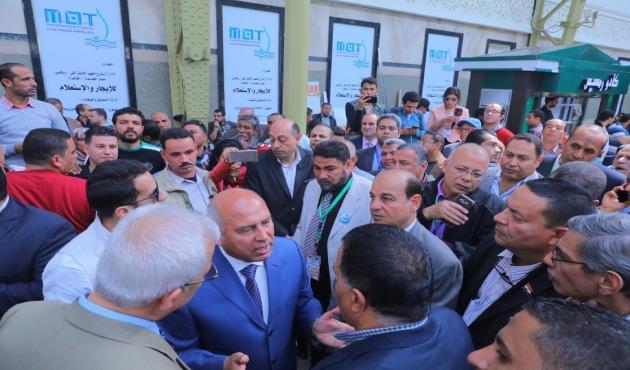 تعليمات لوزير النقل لرفع مستوى الخدمات بمحطة مصر لزيادة عائدات السكك الحديدية