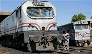 السكة الحديد: سقوط عجلة من البوجى الأمامي لقطار بالمحلة
