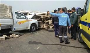 ٤ مصابين فى حادثى تصادم بالجيزة
