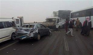 مصرع ٤ أشخاص وإصابة ٢٠ آخرين فى تصادم مروع بين نقل وأتوبيس بالعاشر من رمضان