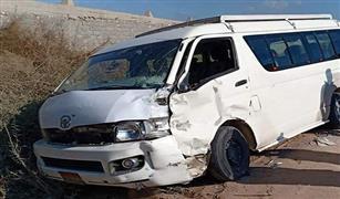 مصرع 14 شخصا وإصابة 10 آخرين فى تصادم سيارتين ميكروباص على كوبرى طرة بالاتوستراد