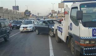كثافات مرورية عالية بمحاور القاهرة وحادثى تصادم للسيارات بمحور الثورة