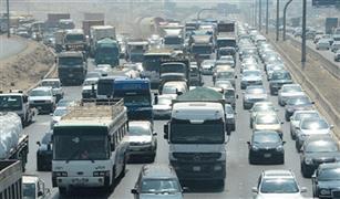 الحالة المرورية اليوم: توقف حركة السيارات على دائرى المنيب والفيوم الصحراوى بسبب حادثى تصادم
