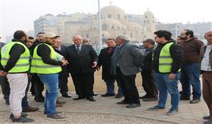 محافظ القاهرة يتفقد أعمال التطوير بشارعي الحجاز وجسر السويس