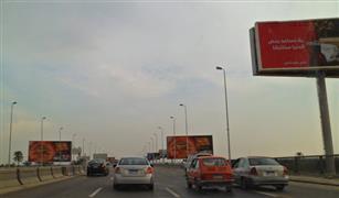 كثافات مرورية عالية بمخرج طريق الإسكندرية الزراعى إلى شرق القاهرة.