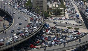 كثافات مرورية متوسطة على محاور القاهرة اليوم