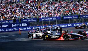 """فريق نيسان """"e.dams""""  يحقق مراكز متقدمة في سباقات  Formula E في مكسيكو سيتي"""