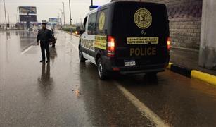 """إغلاق بوابات """"الإسكندرية الصحراوي بسبب شدة الأمطار والرياح"""