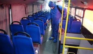 حملات لتعقيم اتوبيسات ومواقف النقل العام للوقاية من كورونا