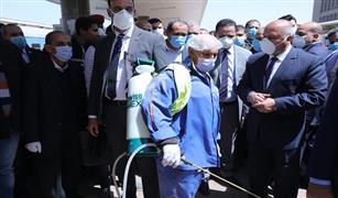 تعقيم محطة عدلي منصور بالمرحلة الرابعة للخط الثالث لمترو الأنفاق