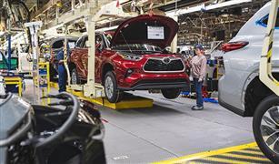 تراجع كبير في إنتاج سيارات تويوتا الشهر الماضي