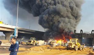 مصدر: البترول تبحث موقف السيارات المتضررة فى حريق خط مسطرد