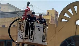 قوات الحماية المدنية تخمد حريقا بمخزن قطع غيار  بسوق التوفيقية للسيارات