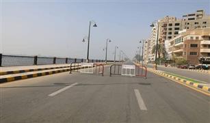 غلق جزئي بكورنيش النيل امام المحمة الدستورية لاستكمال أعمال سور المحكمة.
