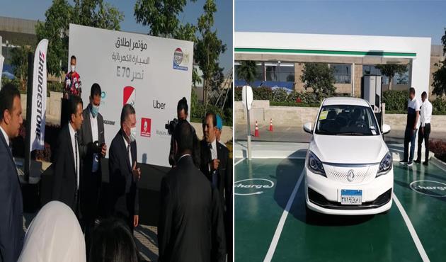 """وزير قطاع الأعمال """"يحجز"""" سيارة كهربائية من موديل """"نصر E70"""""""
