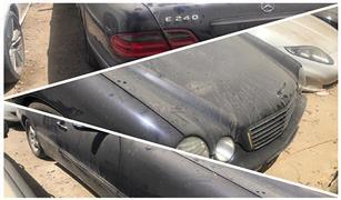 حصريا بالفيديو.. مزايدة علنية لبيع سيارة مرسيدس E240 موديل 2001 بمزاد جمارك السويس والعريش