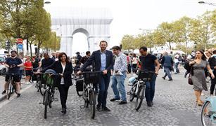 باريس تحتفل بالذكرى السابعة لـ«يوم بدون سيارات»